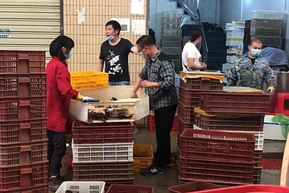 Продавцы с коронавирусного рынка в Ухане снова занялись торговлей