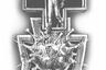«Врач сходит с медицинского креста и вступает в схватку с пандемией, поражая коронавирус копьем, наносит уничтожающий укол и избавляет человечество от напасти, — поясняет автор этого проекта. — От медицинского креста исходят силовые линии-молнии, охватывающие вирус, берущие его в тиски. От нанесенного врачом удара расходятся трещины, которые разрушают коронавирус. В темное время суток трещины светятся изнутри, усиливая драматургию сюжета».<br><br>В знак благодарности медицинским работникам на кресте и на молнии предлагается разместить рельефные изображения ромашек. Ромашка — символ любви и верности, но с начала XIX века существует так называемый День белой ромашки — день помощи больным туберкулезом. Цветок использовали для лечения чахотки.