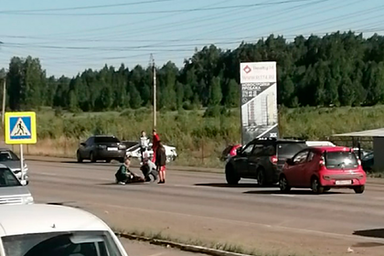 Прапорщик ФСБ сбила врача на пешеходном переходе