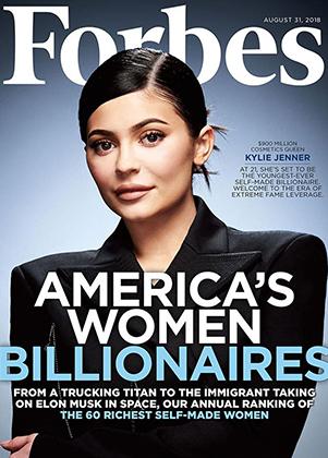 Обложка Forbes, выпущенная в честь присвоения Кайли Дженнер титула «самой молодой миллиардерши в мире»