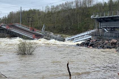 Рухнул связывавший Мурманск с остальной Россией железнодорожный мост