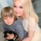 Яна Рудковская с сыном Александром