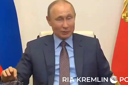 Путин одобрительно постучал по столу во время совещания с Мишустиным