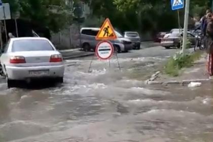 Российский город затопило кипятком во время ливня