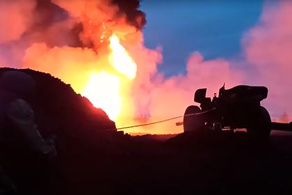Тушение нефтяной скважины противотанковой пушкой в России попало на видео