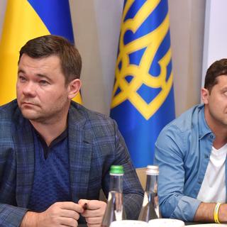 Андрей Богдан и Владимир Зеленский