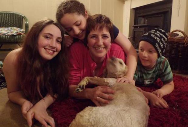 Мэри Тернер Томсон с детьми