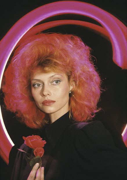 Елена Метелкина в модной съемке, 1989 год