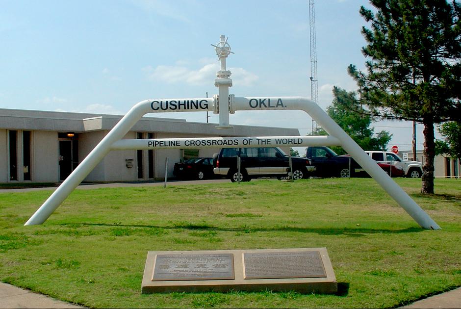 Нефтяной хаб в Кушинге, штат Оклахома
