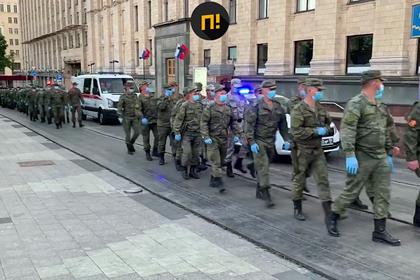 В Москве началась первая репетиция парада Победы