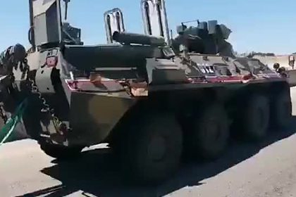 Российский БТР подорвался во время патрулирования в Сирии