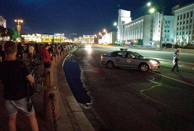 Центр Минска после задержания Бабарико. ГАИ перекрыла движение