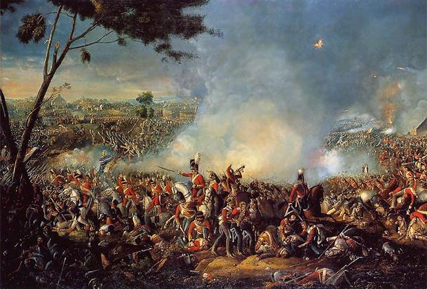 Фрагмент картины «Битва при Ватерлоо»