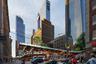"""Такой пешеходный мост спроектировали архитекторы из HardingOstrow для нью-йоркского района Манхэттен. Переход соединяется с <a href=""""https://www.thehighline.org/"""" target=""""_blank"""">Хай-Лайн</a> — наземным парком, который появился на месте бывших железнодорожных путей.<br><br>Мост <a href=""""https://hardingostrow.com/footbridge"""" target=""""_blank"""">выполнен</a> из нержавеющей стали, что позволяет ему также выдерживать деревья и прочие растения. По задумке создателей, вода во время дождя начнет стекать на специальные тумбы внизу, благодаря чему в ненастную погоду будут создаваться визуальные и слуховые эффекты."""