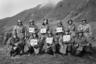 Американские пехотинцы поздравляют жителей США с Новым годом. 14 декабря 1951 года.