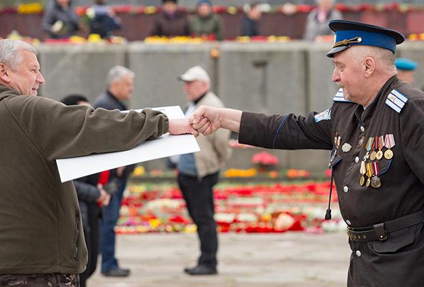 9 мая, Рига. Ветераны празднуют День Победы