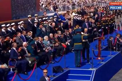 Путин попросил ветеранов не вставать во время его выступления на параде Победы