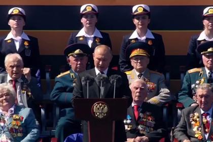 Эмоциональная реакция ветерана на речь Путина на параде Победы попала на видео