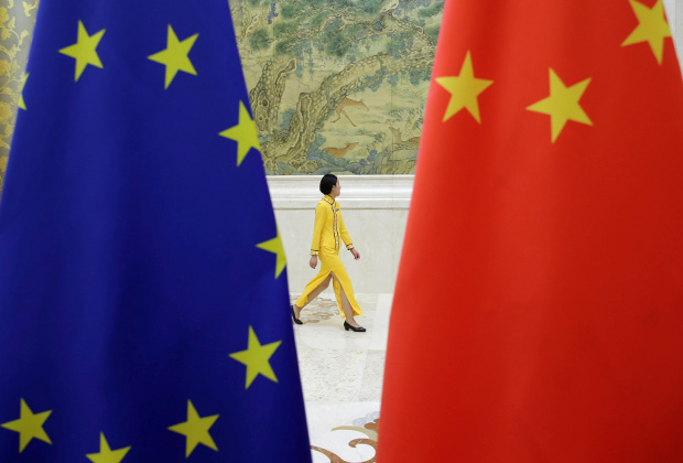 Флаги на очередном раунде стратегического диалога ЕС — Китай