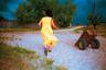 «Желтое платье» — одна из наиболее известных работ Чиликова, может, та самая, которая пошла бы на обложку книги о мастере, который увидел их всех: одиноких женщин, бегущих невесть куда, светящих грудью и ягодицами королев пляжей и деревень, покуривающих сигаретки с крепчайшим табаком и  смутно пытающихся понять, кто они и для чего.