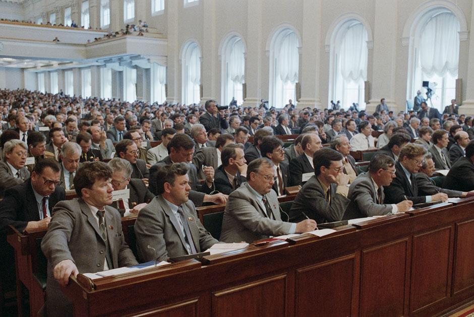Депутаты в Большом Кремлевском дворце, 21 мая 1990 года