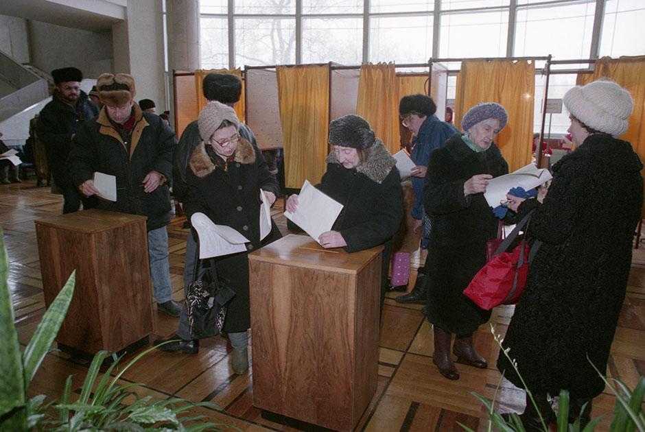 Голосование по новому проекту Конституции, а также выборов в Госдуму и Совет Федерации