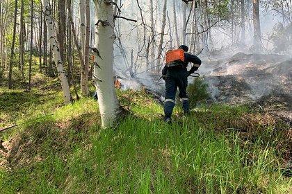 На российском военном полигоне произошел пожар