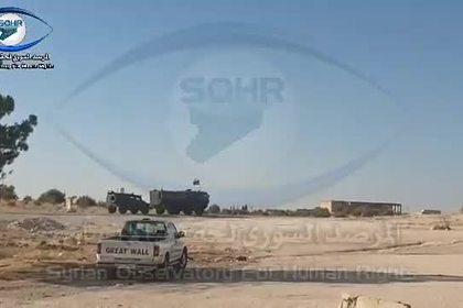 Российскую военную колонну в Сирии засняли на видео