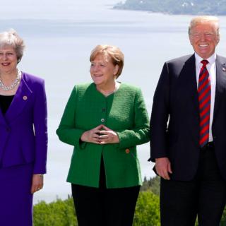 Тереза Мэй, Ангела Меркель и Дональд Трамп