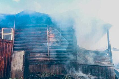 Трое детей сгорели в частном доме в российском регионе