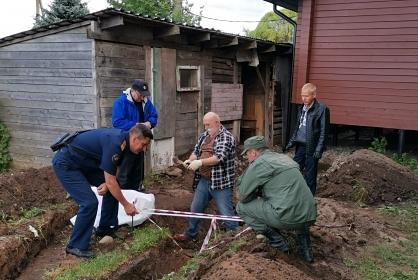 На территории российского храма нашли скелет со связанными конечностями