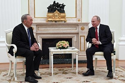 Путин поздравил Назарбаева с 80-летием