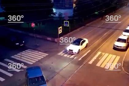 Момент аварии с участием Lamborghini российского блогера попал на видео