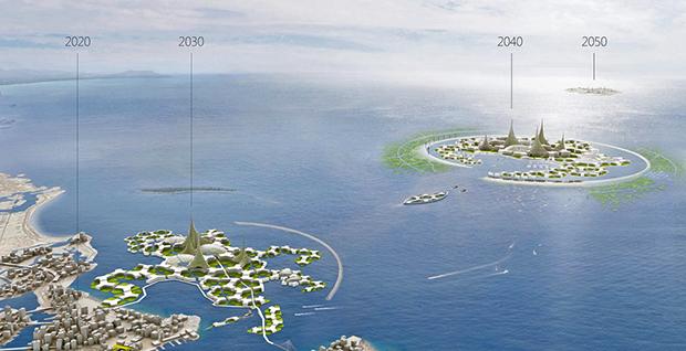 Со временем систейдеры становятся все более автономными и уходят дальше в океан, сказано в концепции развития плавучего города компании Blue21