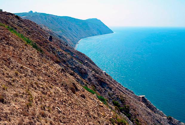 Поселок Супсех, лестница к морю с Лысой горы