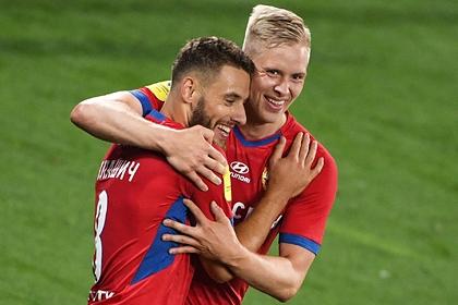 ЦСКА забил три мяча за четыре минуты и победил в матче РПЛ