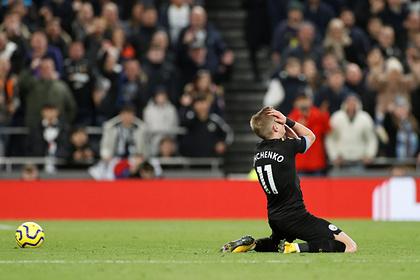 «Манчестер Сити» пропустил гол с 40 метров после ошибки украинского игрока