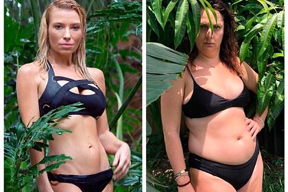 Полная блогерша повторила фото спортсменки в бикини и рассмешила подписчиков