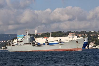Корабль с российскими танками заметили на пути в Сирию