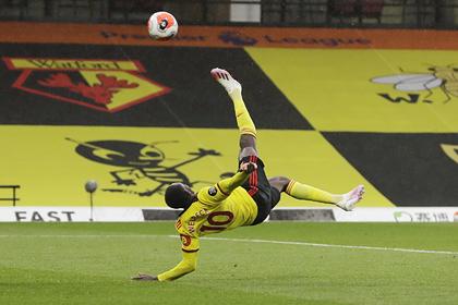 Футболист клуба АПЛ забил мяч ударом через себя
