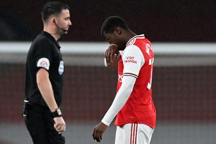 Футболиста «Арсенала» удалили через четыре минуты после выхода на поле