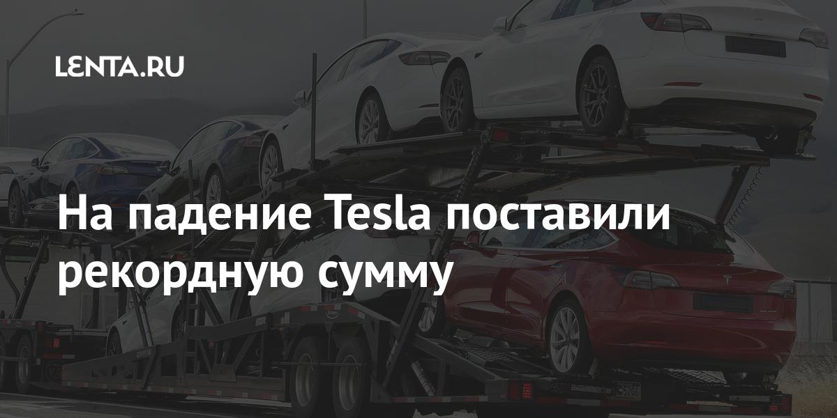 На падение Tesla поставили рекордную сумму