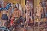 Продолжил тему голых и спортивных тел Мировой музей регби, расположенный в Лондоне. Кураторы поделились картиной, на которой можно увидеть целую команду переодевающихся и принимающих душ регбистов. Полотно было написано в 1959 году британским художником, драматургом и поэтом Кеном Этериджом, чьи работы можно встретить и в других музеях его родного графства Кармартеншир.