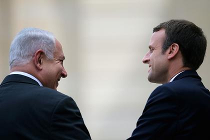 Макрон попросил Нетаньяху воздержаться от аннексии Западного берега