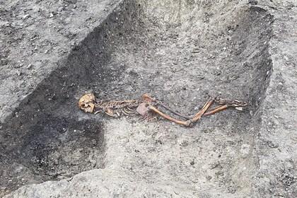 Археологи обнаружили останки жертвы убийства из железного века
