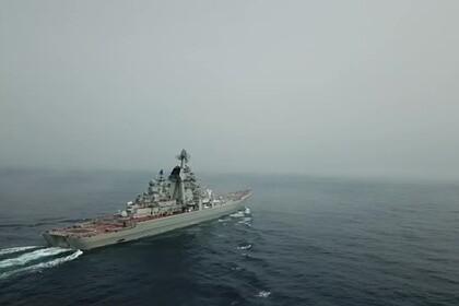 Опубликовано видео пуска ракеты с атомного крейсера «Петр Великий»