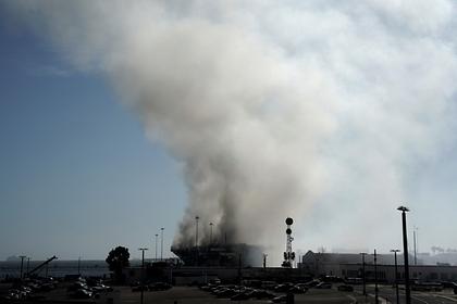 Стали известны новые подробности пожара на американском корабле