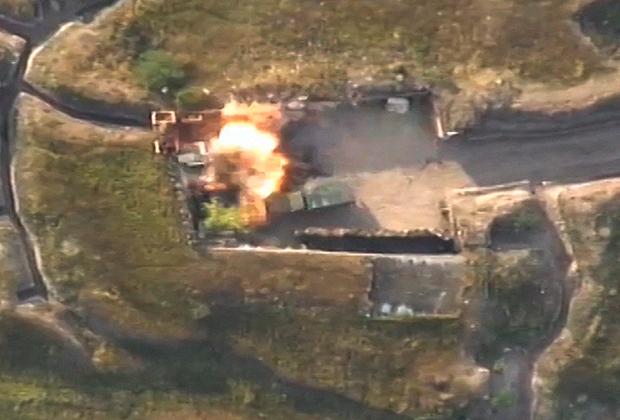 Подразделения азербайджанской армии нанесли удар по опорному пункту противника.