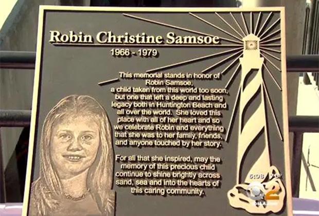 Табличка памяти Робин Самсо