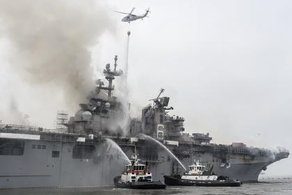 Стало известно о пострадавших при пожаре на американском военном корабле